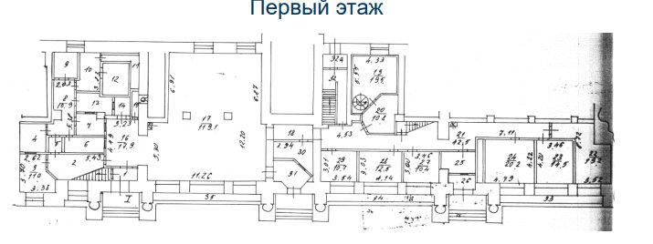 План первый этаж